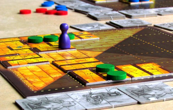 Das Labyrinth des Pharao - game in progress