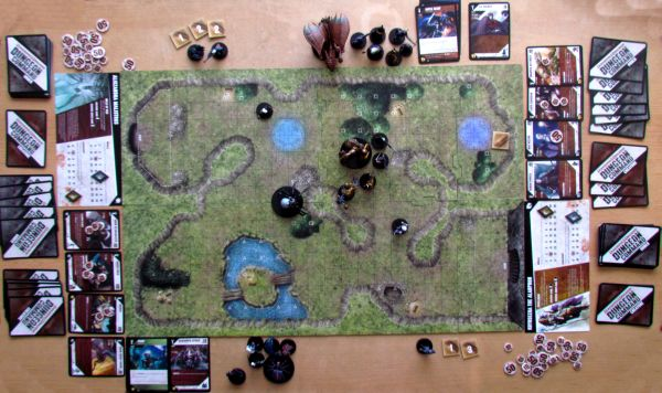 Dungeon Command: Sting of Lolth vs Heart of Cormyr - game in progress