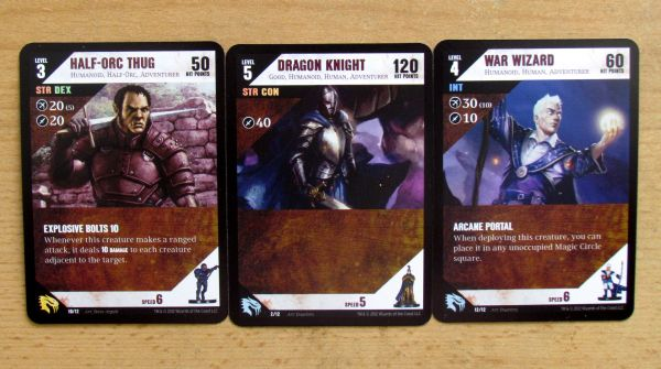Dungeon Command: Sting of Lolth vs Heart of Cormyr - cards