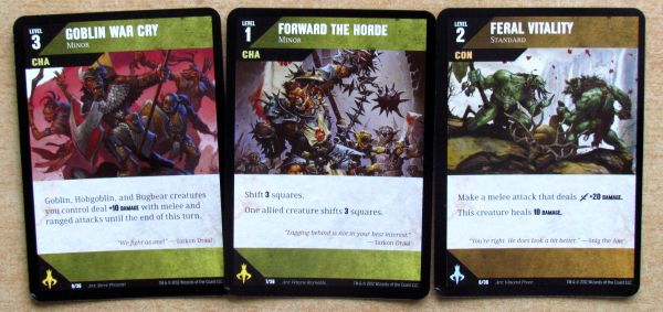 Dungeon Command: Tyranny of Goblins - cards