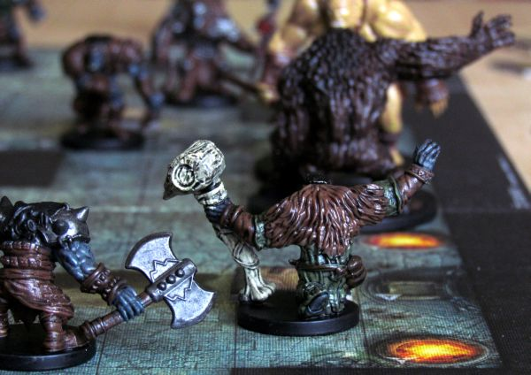 Dungeon Command: Blood of Gruumsh - game in progress