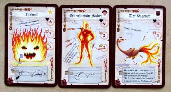 Dungeon Fighter: Fire at Will - cards