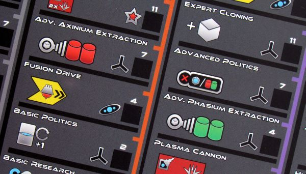 Exodus: Proxima Centauri - player board detail