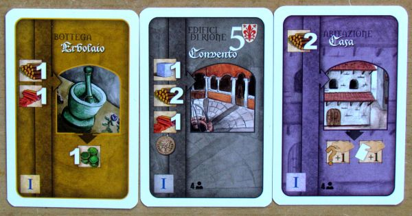 Florenza: The Card Game - cards