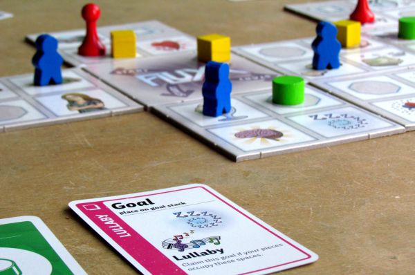 Fluxx: The Board Game - game in progress