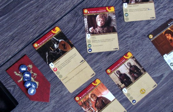 A Game of Thrones: Card Game HBO - game in progress