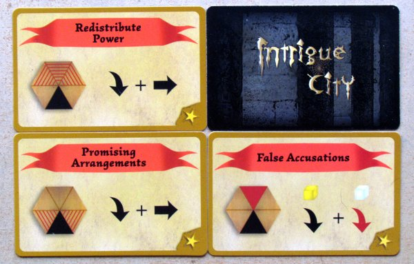Intrigue City - cards