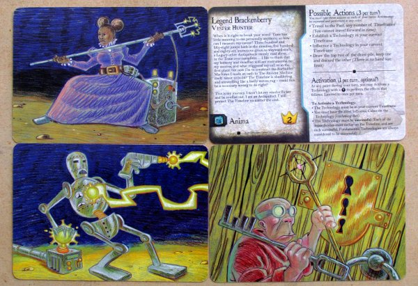 Legacy Gears of Time: Forbidden Machines - hero cards