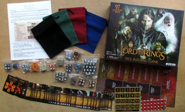 Lord of the Rings Dice Building Game - packaging