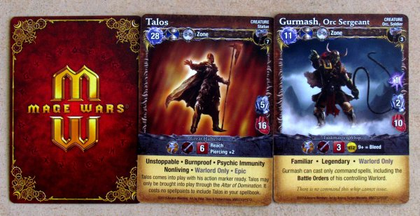 Mage Wars: Forged in Fire - cards