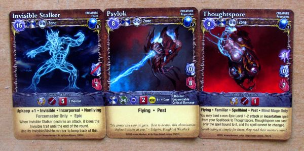Mage Wars: Forcemaster vs Warlord - cards