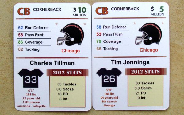 Masters of Gridiron - cards