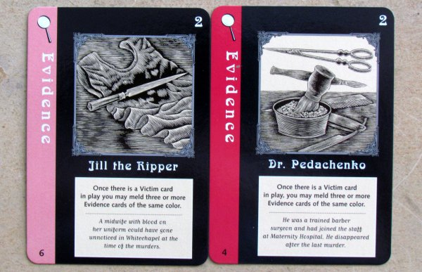 Mystery Rummy: Jack the Ripper - cards