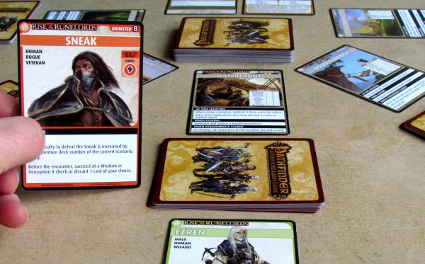 Pathfinder ACG: Rise of the Runelords Base Set - game in progress