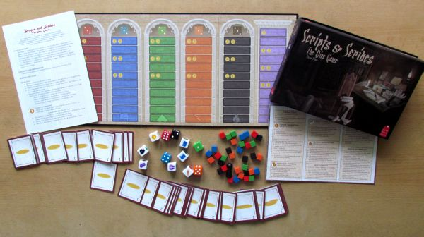 Scripts and Scribes: The Dice Game - packaging