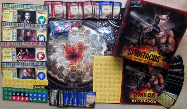 Spartacus: A Game of Blood and Treachery - packaging