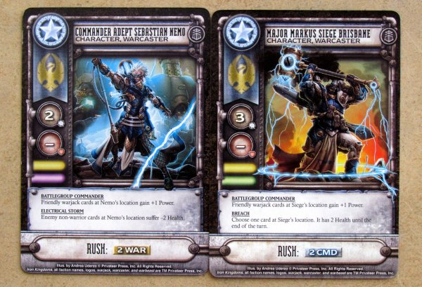 Warmachine: High Command - cards