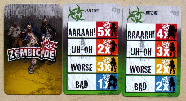 Zombicide: Toxic City Mall - cards